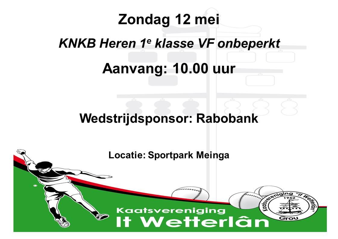 KNKB heren VF 12 mei met sponsor